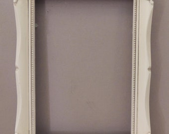 5x7 White Picture Frame, Ornate White Picture Frame, Frame with Glass, White Wedding Frame, Girls Room Frame, Baby Room Fame, Nursery Frame