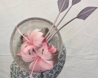 Grey and pink headpiece