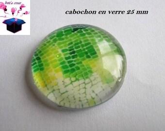 1 cabochon clear 25 mm salamander skin theme