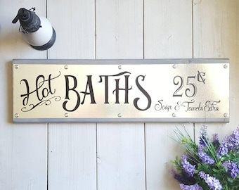 Bathroom Wall Art, Bath Sign, Bathroom Signs, Bathroom Decor, Farmhouse Bathroom Decor, Rustic Home Decor,  Modern Farmhouse Decor