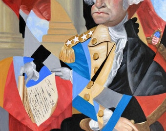 George Washington First President Founding Father Cubism Anthony Falbo