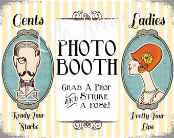 INSTANT DOWNLOAD. Printalbe PDF. Photo Booth Sign. Photo Booth Prop. Photobooth Prop. Photo Booth.Vintage Retr0