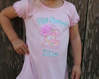 Big Sister Shirt - Big Sister Dress - I'm Going to be a Big Sister Shirt - Big Sister Little Brother