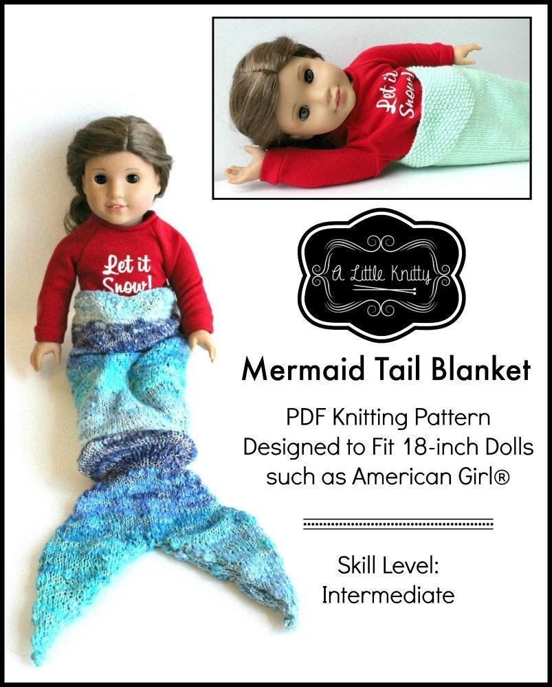 Pixie Faire A Little Knitty Mermaid Tail Blanket Knitting Pattern ...
