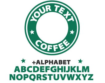 Starbucks svg, starbucks custom logo template svg, coffee svg, circle coffee logo svg, svg file for cricut, silhouette, svg files, svg