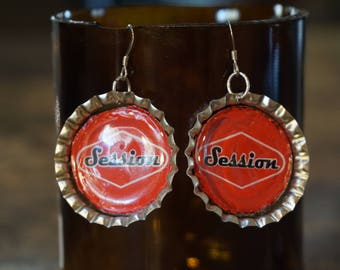 Sessions Red Lager Earrings