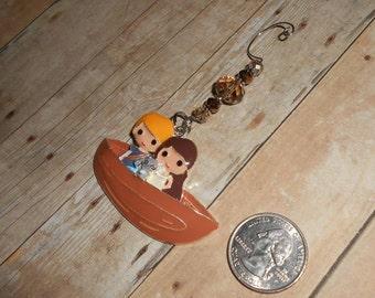 Pocahontas, John Smith, and Meeko Christmas Ornament // Princess X-Mas Ornament // Holiday Decor // Stocking Stuffer