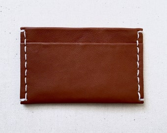 Saddle Brown Leather Card Case