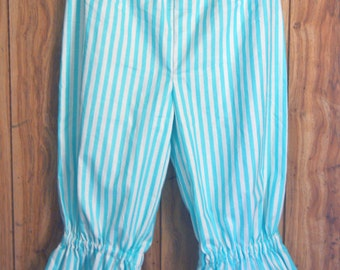 Custom Made, Steampunk, Pirate, Gothic, Victorian Pantaloons,Bloomers, Knickers, Stripe, Lolita,ABDL