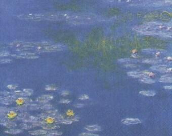 Impressionist Art Napkins   Monet's Water Lilies    Art Napkins   Floral Napkins Water Lily Napkins Paper Napkins for Decoupage
