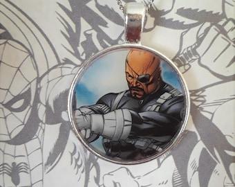 "1"" Nick Fury necklace"