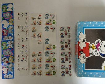 Peanuts Sticker Set - Box and Sheets - Nearly 100 Vintage Stickers