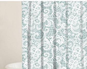 Shower Curtain Set, Lace Shower Curtain Bathtub Curtain, Bathtub Curtain,  Bathroom Products,