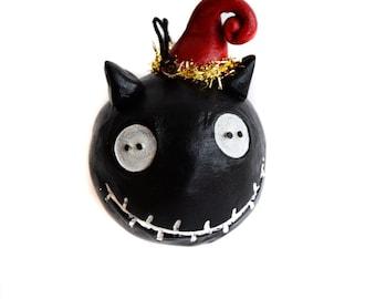 Halloween Ornament- Cat Ornament- Spooky Cat - Christmas Halloween
