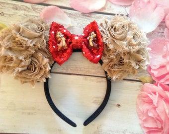 chip and dale mouse ears headband chipmunks headband adult headband child headband accessoriesparty headband halloween costume