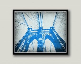 Brooklyn Bridge New York City Printable Wall Art, Instant Download