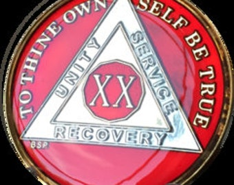 Alcoholics Anonymous Medallions Years 11-25