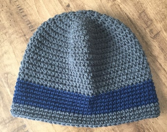 Crochet Beanie. Men's Crochet Beanie. Crochet Hat. Men's Accessories. Men's Hats. Slouchy Men's Hat