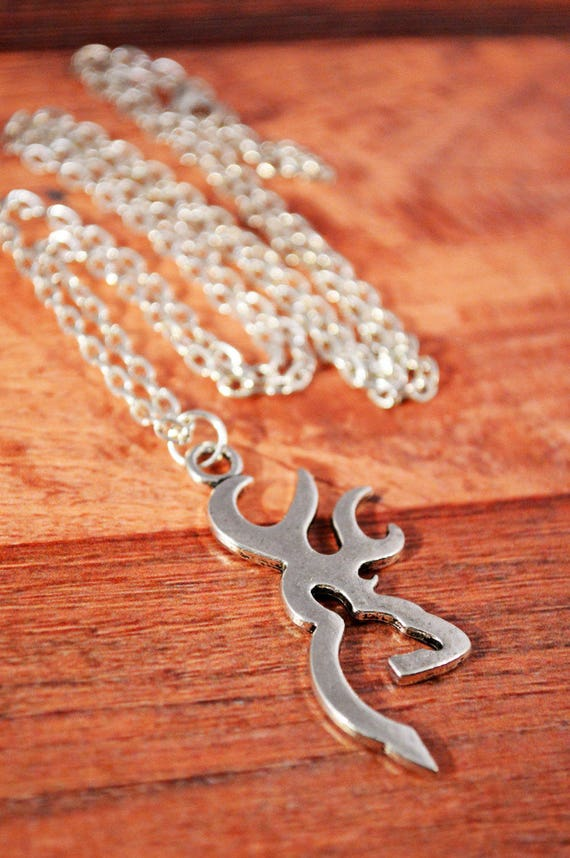 Browning Deer Silver Plated Necklace Browning Jewelry