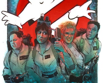 Ghostbusters Reboot Poster - New cast with original gear and uniforms!