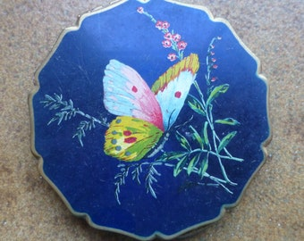 Vintage Stratton Powder Compact - Butterfly - 1960's - Fashion Collectable - Beautiful colours - Make up - Face - Face powder - Collectable