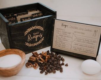 Recipe Box with stand