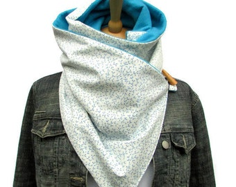 Thick scarves, scarves for her, blue scarf, fleece scarf, flower scarf, Bright scarves, scarf, long scarf, infinity scarves, winter scarves,