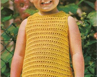 Toddler's crocheted dress pattern
