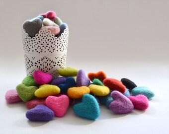 25x Felt Hearts 30-35mm - Pick your Colours - DIY Garland Supply - DIY Christmas Decor - Make your Own Wedding Decor - DIY Cake Topper