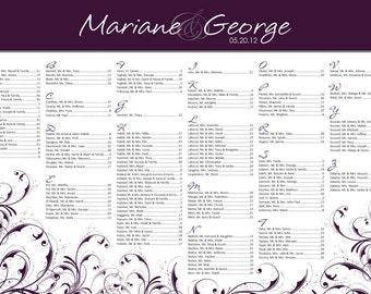 Wedding Seating Chart 24x36
