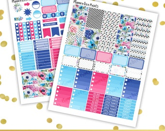 50%off flowers PRINTABLE Planner Stickers | Instant Download | Pdf and Jpg Format