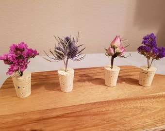 Dried Flowers Magnets (a set of 4)