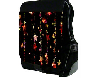 Stars Large Black School Backpack