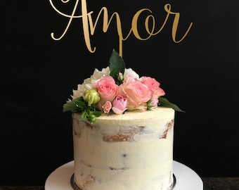 Wedding Cake Topper, Amor Cake Topper, Rustic wedding cake topper, Cake Topper For Wedding, Engagement Cake Topper, Anniversary Cake Topper