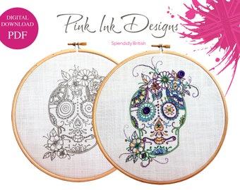 PDF Skull design. Digital download
