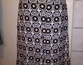Vtg High Waist Pencil Skirt with belt