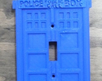 Doctor Who tardis light switch cover Dr Who wall plate switchplate 3D printed - Made in USA PR40
