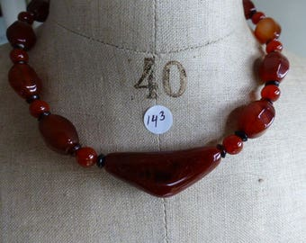 Necklace of red agate