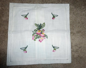 embroidered pillow covering square new