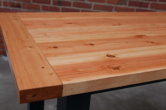 Farmhouse table farm table thick top table harvest table for Solid wood farm table