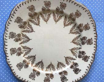 Orphan Desert / Side Plate Colclough White Gold Dandelion 50s