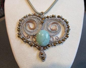Handmade Wire Weaved Pendant