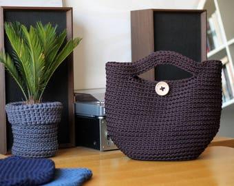 Brown Crocheted ToTe Bag
