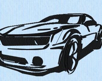 Camaro Embroidery Design
