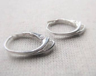 Jewelry Finding Earring Pair Sterling Silver Leverback Modern Contemporary Item No. 6911