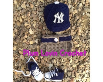 Crochet New York Yankees outfit