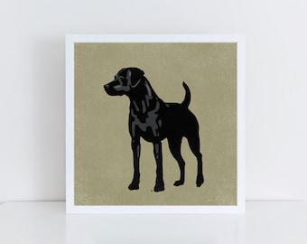 Labrador Dog Print, Labrador Dog Poster, Labrador Dog Art, Black Lab, Labrador Retriever, Black Lab Print, Black Lab Art Print, Black Lab