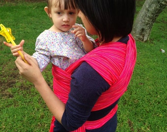 Baby Wrap Carrier Mexican Nech Magenta fine lines Wrap available in 5,5 yards and 4,2 yards