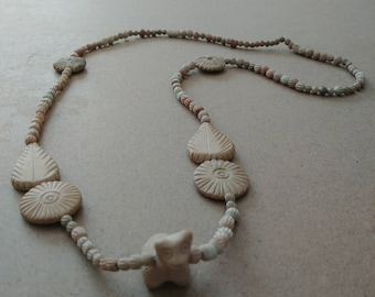 Vintage Clay Mystery Animal Necklace