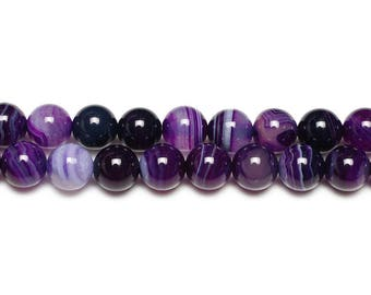 10 x beads 10mm purple dyed Agate